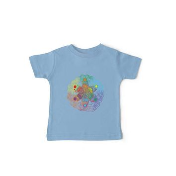 Kids/ Baby T Shirt Rainbow Design