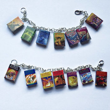 Harry Potter mini book bracelet UK and US cover series charm bracelet