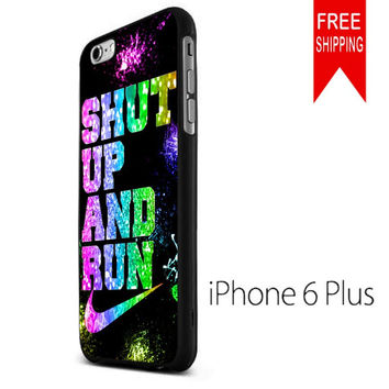 SHUT UP AND RUN NIKE GLITTER iPhone 6 Plus Case