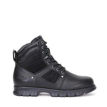 Polo Ralph Lauren Mens Casual Boots Diego Black Leather