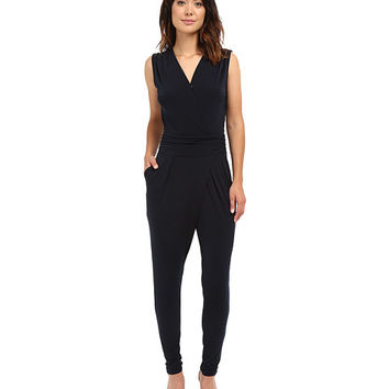 MICHAEL Michael Kors Solid Wrap Pleated Jummpsuit
