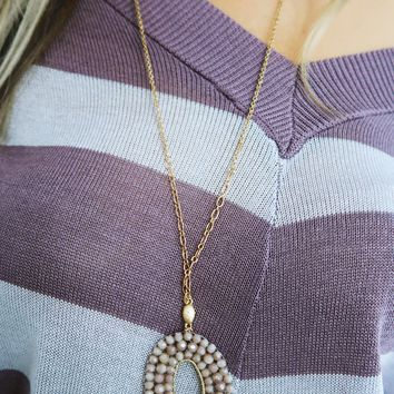 Set Me Free Necklace: Dusty Lilac/Gold