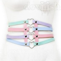 Pastel heart Corset from DEVILISH