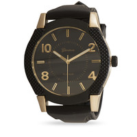Black Silicone Men's Watch