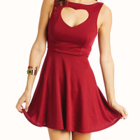 heart-neckline-dress BLACK RUBY TEAL - GoJane.com