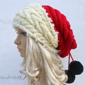 Shop Cable Knit Pom Pom Hat On Wanelo