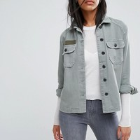 AllSaints Jemma Military Shirt Jacket at asos.com
