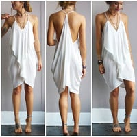 A Flowy Little Ivory Dress