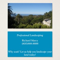 California Landscaping Business Cards