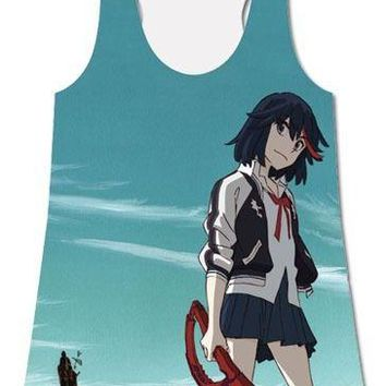 Kill La Kill Ryuko Trigger Anime Sublimated Junior Racer Tank Top