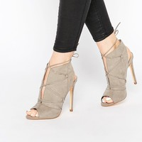 New Look Lace Up Suedette Heels