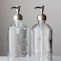 Market Glass Soap Dispensers - Pair