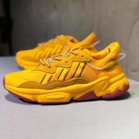Adidas Ozweego Adiprene Popular Men Women Casual Sport Running Shoes Sneakers Yellow