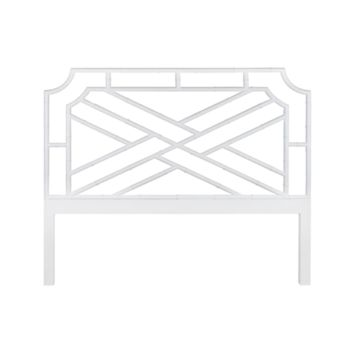 Worlds Away Delphine Headboard in White Lacquer