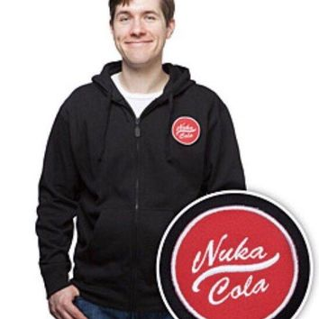 Fallout Nuka Cola W/ 3 Velcro Patches Mens XL Hoodie  Bethesda & Loot Crate Pin