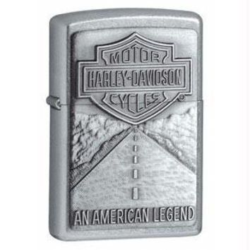 Zippo Harley Davidson Shield and American Legend Emblem Street Chrome Pocket Lighter