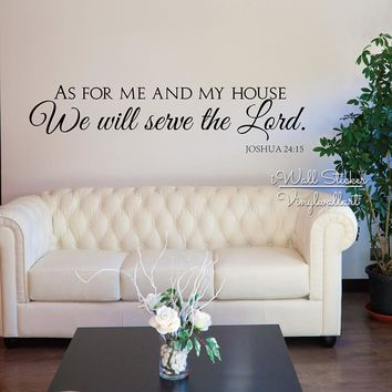 As For Me And My House Wall Decals