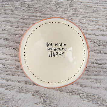 "Tiny Trinket Dishes ""You Make My Heart Happy"" by Natural life"