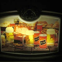 Black Label Beer Bar Sign Working Light  Retro Party Time Dorm Room House Warming Gift Mid Century