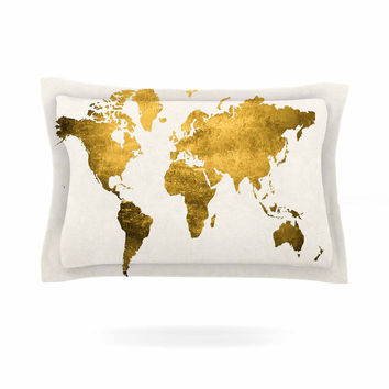 "Chelsea Victoria ""Let Love Light The Way"" Gold Love Pillow Sham"