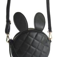 ROMWE Ribbit Ears Shaped Black Bag