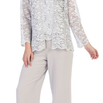 Formal Mother of the Bride Pant Suit with Jacket