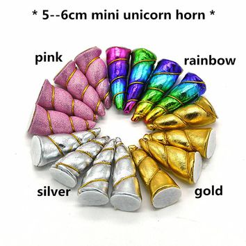 50 piece party lot! Mini Unicorn Horns headbands mixed or solid colors