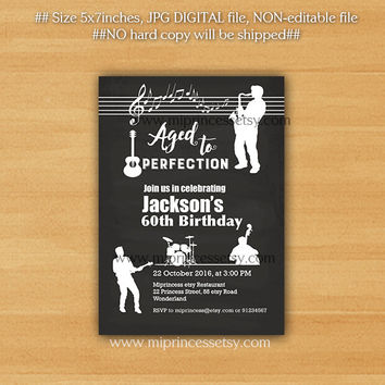 Best aged to perfection invitations products on wanelo jazz birthday invitation music jazz nigh aged to perfection 3 stopboris Image collections