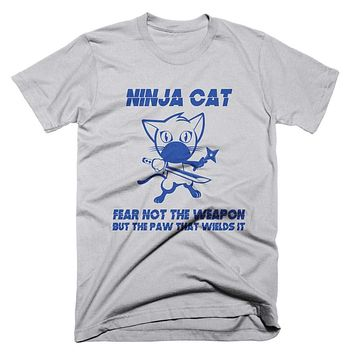 Ninja Cat T Shirt Funny Cat T Shirt Mens Shirt Katana Ninja Star T Shirt Kung Fu T Shirt Womens Cat T Shirt Gifts For Cat Lovers TShirt