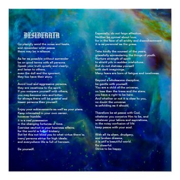 Desiderata on Orion Nebula Poster