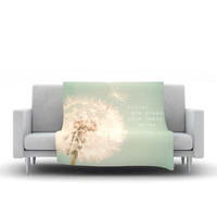 "Debbra Obertanec ""Wishes Are Dreams"" Fuzzy Fleece Throw Blanket"
