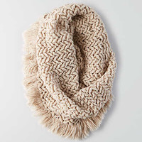 AEO Marled Fringe Snood , Brown
