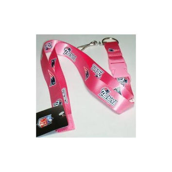 New England Patriots Lanyard - Breakaway with Key Ring - Pink