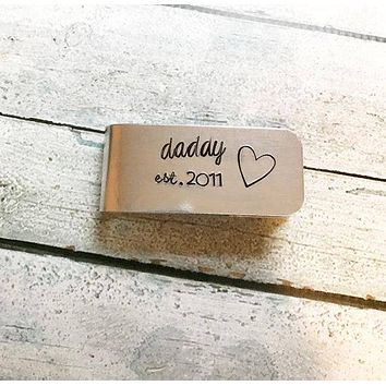 Personalized Money Clip Gift for Him