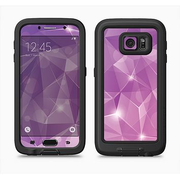 The Vector Shiny Pink Crystal Pattern Full Body Samsung Galaxy S6 LifeProof Fre Case Skin Kit