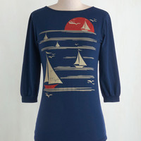 Nautical Mid-length 3 All's Fair in Love and Wharf Tee