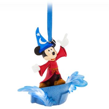 Disney Fantasia Sorcerer Mickey Light Up Sketchbook Ornament New with Tags
