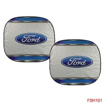 Licensed Official New 2 Panel Ford Elite Series Car Truck Windshield Front Sun Shade Sunshade