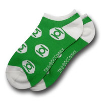 DC Comics Green Lantern Logo Ankle Socks