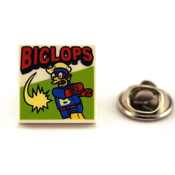 Fun cartoon hero Tie Pin, Tie Tack Pin, Men's Tie Tacks, Tie Tac, Silver Tie Clip, Tie Clips Men, Wedding Clip, Tie Tack