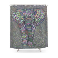Society6 Elephant Spirit By Julie Oakes Shower Curtain