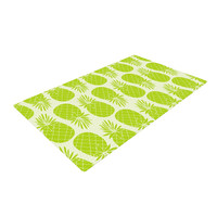"""Anchobee """"Pinya Lime"""" Green Pattern Woven Area Rug"""