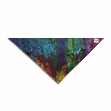 "Nina May ""Rainbow Saltwater"" Multicolor Painting Pet Bandana"