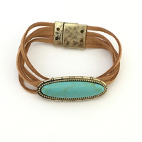 Sweet Rock Magnetic Bracelet In Turquoise