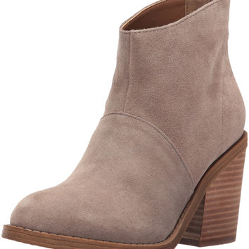 Steve Madden Women's Shrines Ankle Bootie Taupe Suede 7.5 B(M) US '