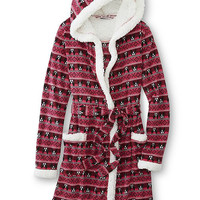 Womens Fair Isle Fleece Robe
