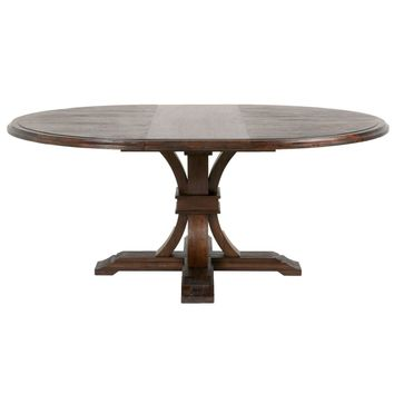 Devon Round / Oval Extension Dining Table Rustic Java