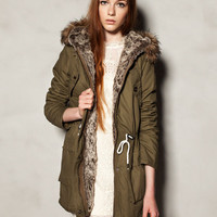 GREEN HOODED COTTON PARKA - MUST HAVE - WOMAN -  United Kingdom