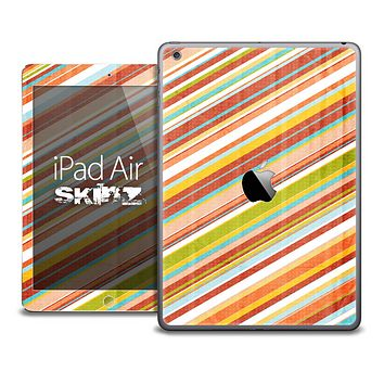 The Vintage Color Striped Skin for the iPad Air