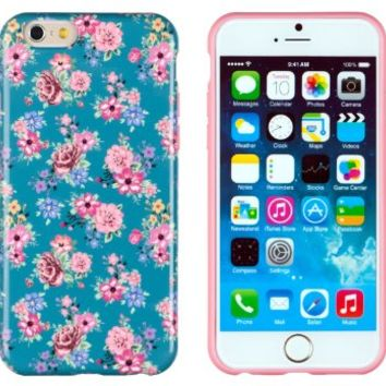 "iPhone 6 Case, DandyCase PERFECT PATTERN *No Chip/No Peel* Flexible Slim Case Cover for Apple iPhone 6 (4.7"" screen) - LIFETIME WARRANTY [Vintage Teal Floral]"